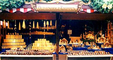 Weihnachtsmarkt Stand Figura Santa